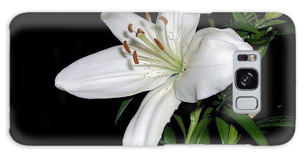 White Lily Galaxy Case
