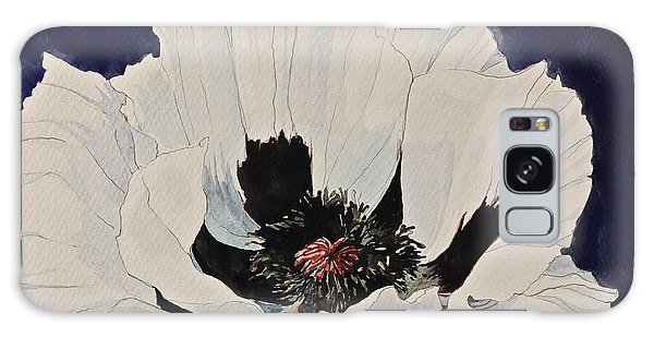 White Poppy-posthumously Presented Paintings Of Sachi Spohn  Galaxy Case