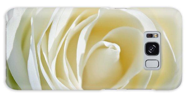 White Rose Galaxy Case by Ann Murphy