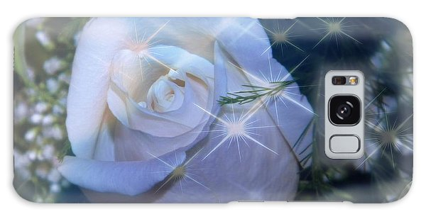 White Rose Galaxy Case by Michelle Frizzell-Thompson