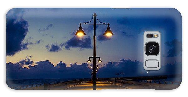 White Street Pier Lights Galaxy Case