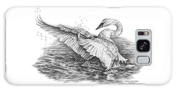 White Swan - Dreams Take Flight Galaxy Case