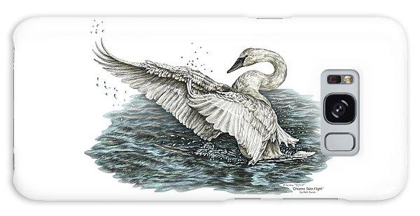 White Swan - Dreams Take Flight-tinted Galaxy Case