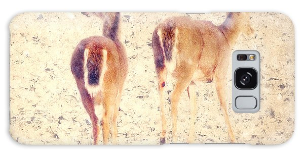 White-tailed Deer Galaxy Case - White Tails In The Snow by Amy Tyler