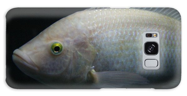 White Tilapia With Yellow Eyes Galaxy Case