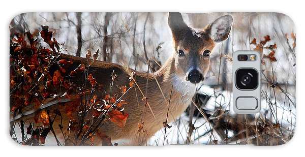 Whitetail Deer In Snow Galaxy Case by Nava Thompson