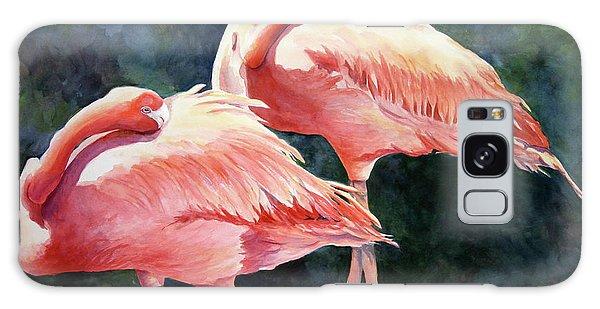 Who's Peek'n - Flamingos Galaxy Case