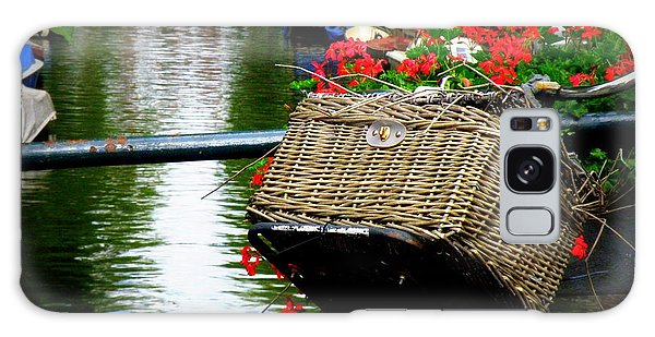Wicker Bike Basket With Flowers Galaxy Case