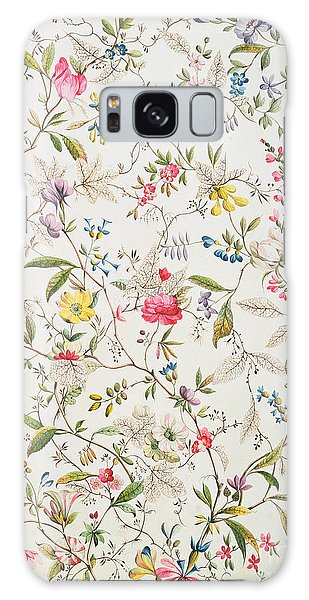 Tapestry Galaxy Case - Wild Flowers Design For Silk Material by William Kilburn
