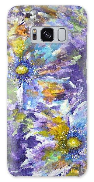 Wild Purple Roses Galaxy Case by Kathleen Pio