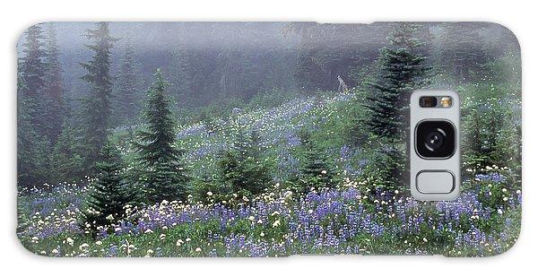 Wildflower Meadow Mt Rainier Galaxy Case