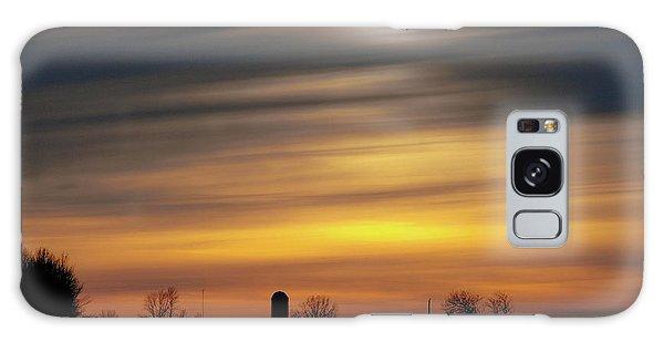 Winter Farm Sunset Galaxy Case