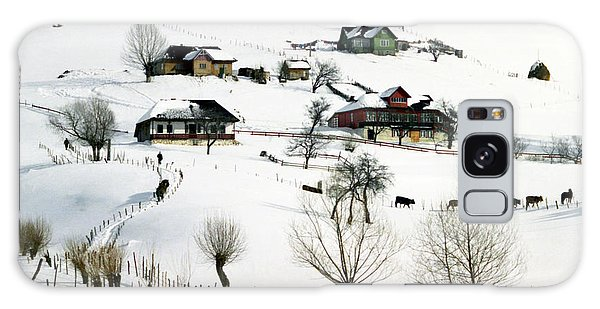 Winter In The Village Galaxy Case