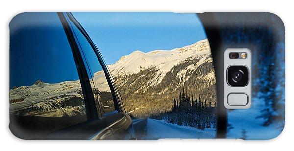 Winter Landscape Seen Through A Car Mirror Galaxy Case