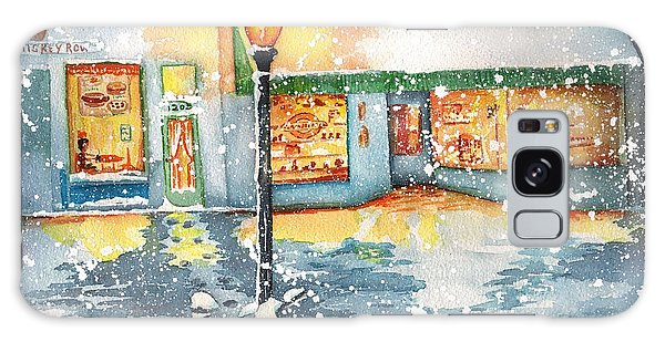 Winter On Whiskey Row Prescott Arizona Galaxy Case by Sharon Mick
