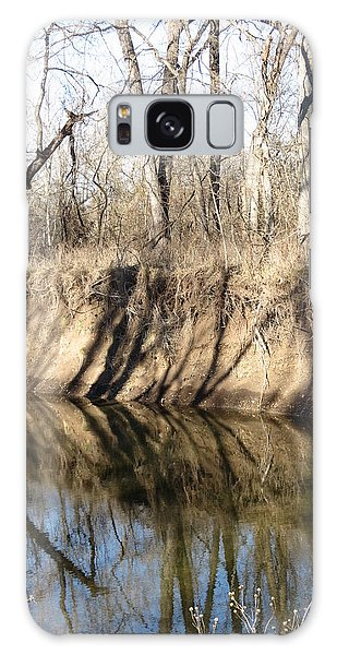 Winter River Reflections Galaxy Case by Rebecca Overton