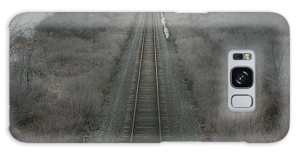 Winter Tracks  Galaxy Case by Neal Eslinger