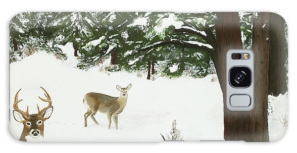 Wintering Whitetails Galaxy Case