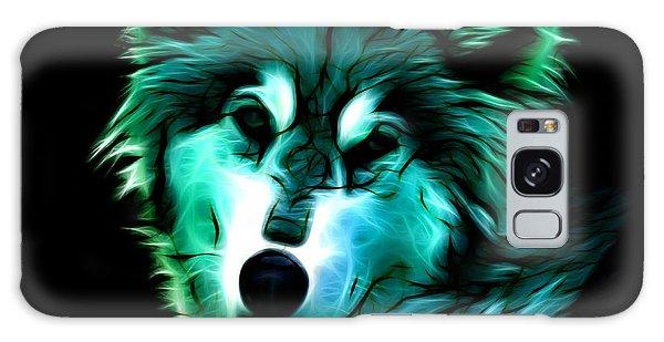 Wolf - Cyan Galaxy Case