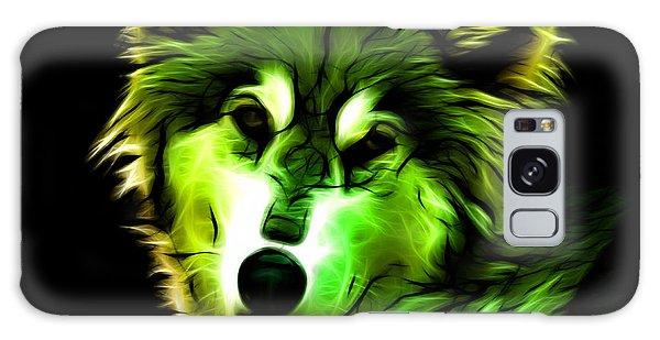 Wolf - Green Galaxy Case