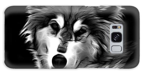 Wolf - Greyscale Galaxy Case
