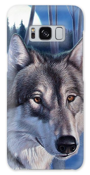 Wolf In Moonlight Galaxy Case