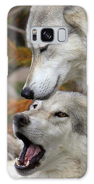 Wolf Talk Galaxy Case by Steve McKinzie