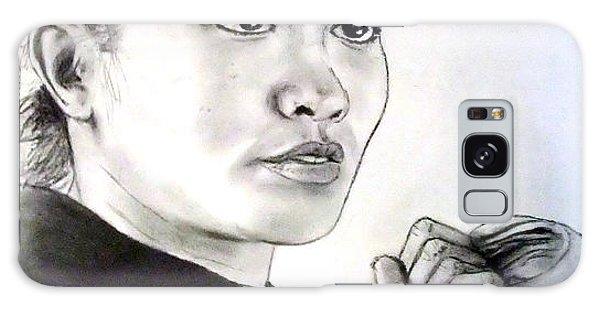 Woman's Boxing Champion Filipino American Ana Julaton Galaxy Case by Jim Fitzpatrick