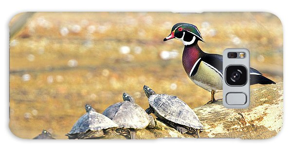 Wood Duck And Four Friends Galaxy Case