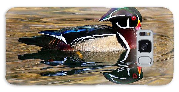 Wood Duck On Golden Pond Galaxy Case