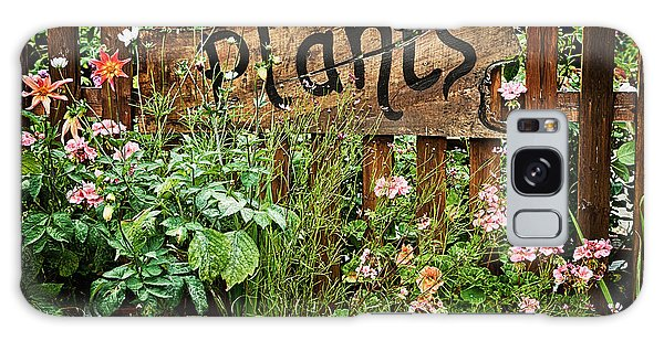 Gardens Galaxy Case - Wooden Plant Sign In Flowers by Simon Bratt Photography LRPS
