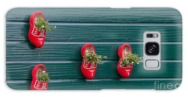 Wooden Shoes On Teh Wall Galaxy Case by Carol Ailles