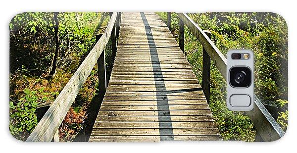 Board Walk Galaxy Case - Wooden Walkway Through Forest by Elena Elisseeva