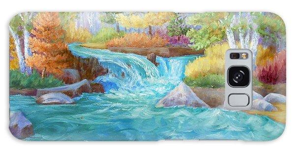Woodland Stream Galaxy Case by Irene Hurdle