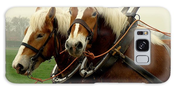 Work Horses Galaxy Case by Lainie Wrightson
