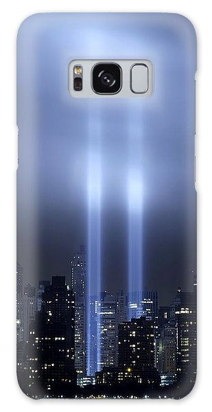 World Trade Center Memorial Lights Galaxy Case by Michael Dorn