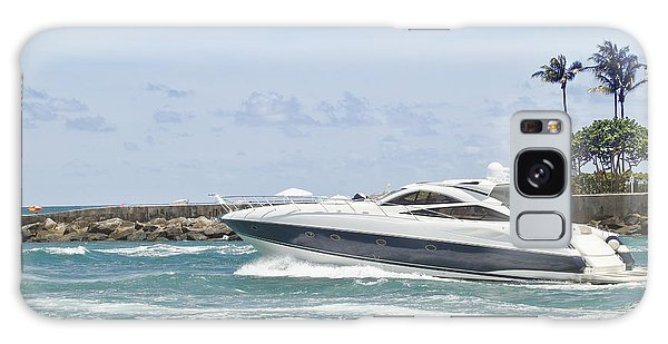 Powerboat Galaxy Case - Yacht In Inlet by Rudy Umans
