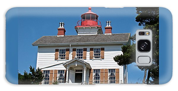 Yaquina Bay Lighthouse Galaxy Case by Nick Kloepping