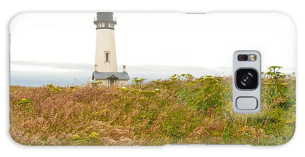 Yaquina Head Lighthouse In Oregon Galaxy Case by Artist and Photographer Laura Wrede
