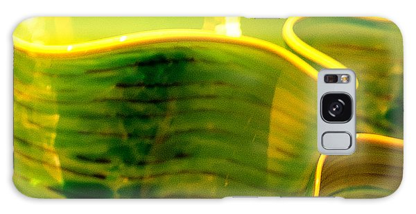 Yellow And Green Galaxy Case by Artist and Photographer Laura Wrede