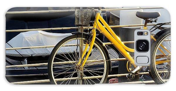 Motor Yacht Galaxy Case - Yellow Bicycle by Carlos Caetano