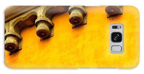 Yellow Castle Galaxy Case by Michael Cinnamond