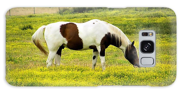 Yellow Fields Horse Galaxy Case by Wendy McKennon