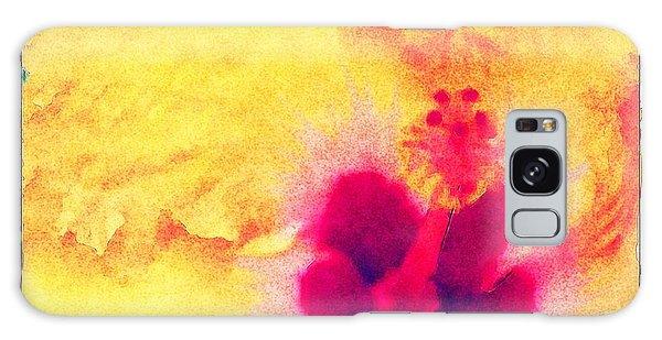 Yellow Hibiscus Flower Galaxy Case