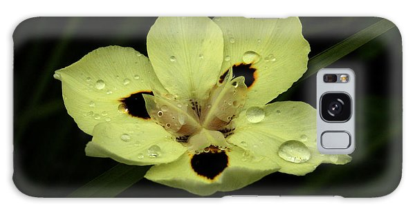 Yellow Iris With Rain Drops Galaxy Case