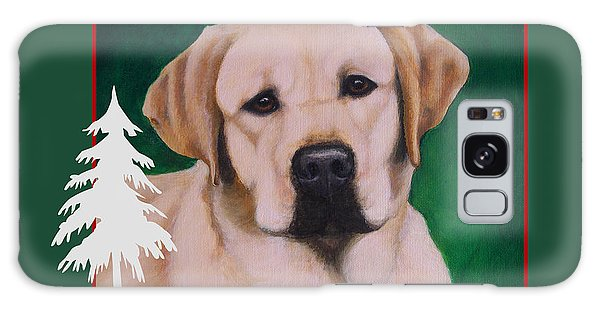 Yellow Labrador Portrait Christmas Galaxy Case