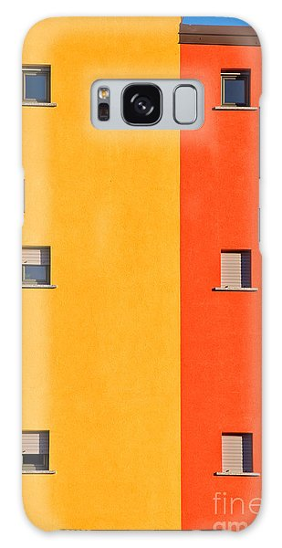 Colorful Galaxy Case - Yellow Orange Blue With Windows by Silvia Ganora
