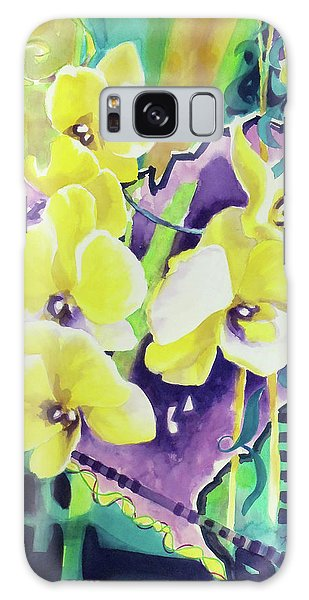 Yellow Orchids Of The Heart Galaxy Case