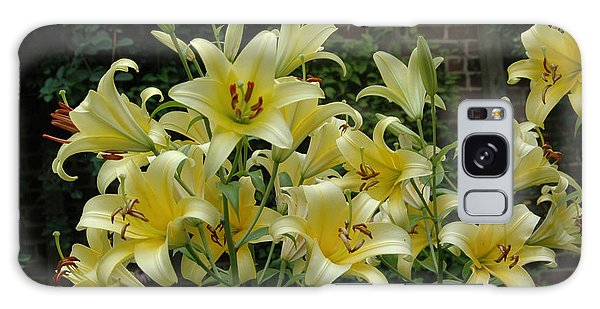 Yellow Oriental Stargazer Lilies Galaxy Case