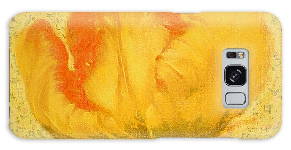 Yellow Parrot Tulip Galaxy Case by Richard James Digance